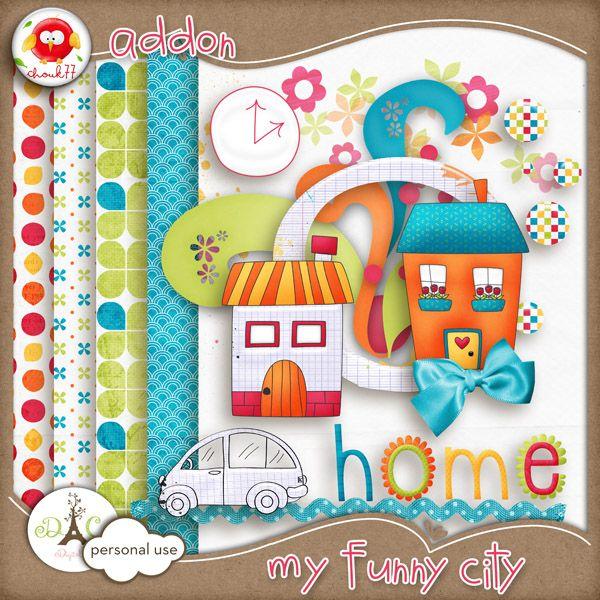 My Funny City mini kit freebie from Chouk77