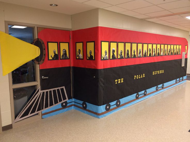 I did this Polar Express for the Christmas door decoration contest at the school I teach at.                                                                                                                                                      More