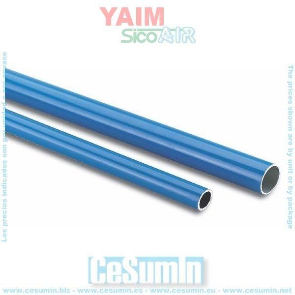 SC059020017 - En Stock - Precio: 28.8E Tubo azul y perfiles de aluminio Tubo aluminio 20 (tubos 4 mts.) tubo204