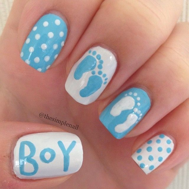 Best 25 baby nail art ideas on pinterest baby nails baby great for pregnant mom to wear at baby shower or to wear to surprise everyone with the babys sex of course wear pink for the lil girls prinsesfo Images