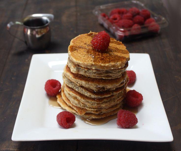 Vegan pancakes:  1 C Almond Milk, 1/2 C Buckwheat Flour, 1/2 C Oat Bran, 2 T Rice Malt Syrup, 1 t Baking Soda