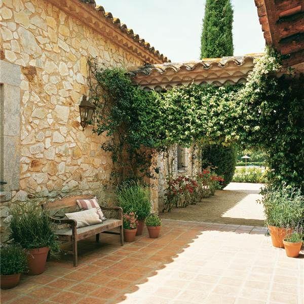 Porche en madera piedra y jazm n decoraci n pinterest - Conillas garden center ...
