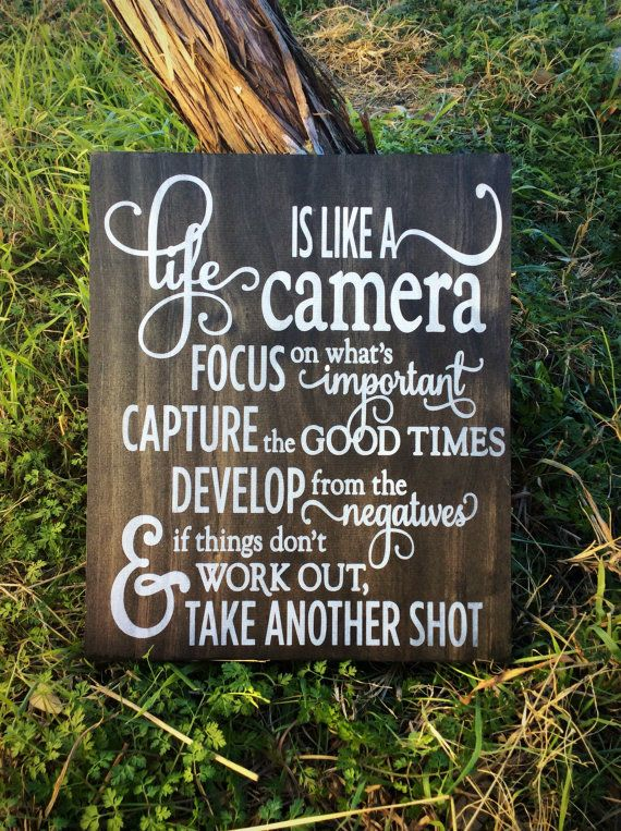 Life is Like a Camera Photographer Gift Camera Decor Camera