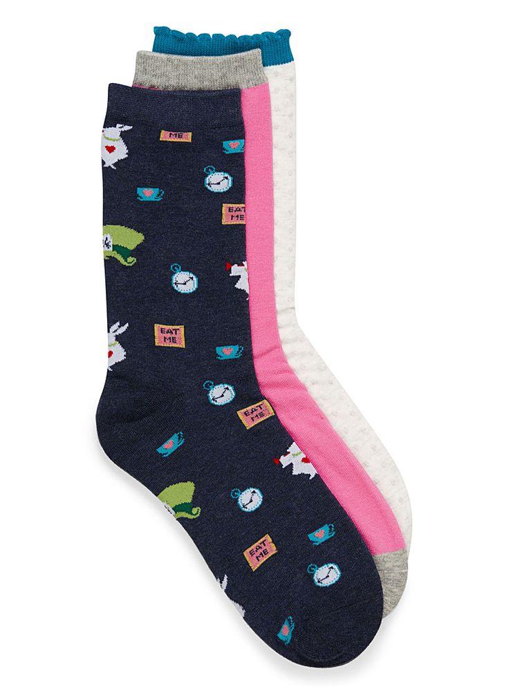 Fairy tale socks Set of 3   Simons   Women's Socks: Shop Socks for Women Online in Canada   Simons