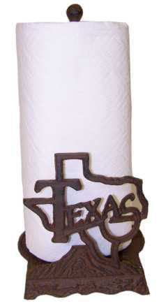 Texas Paper Towel Holder-Great Texas Kitchen Decor!