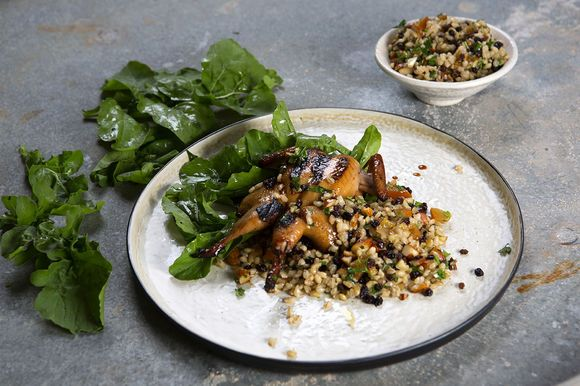 Butterflied Quail with Orange and Barley Salad - Maggie Beer