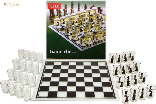 Shot Glass Chess Set #Drinking Game - Drunken Chess #DrinkingGame #Party