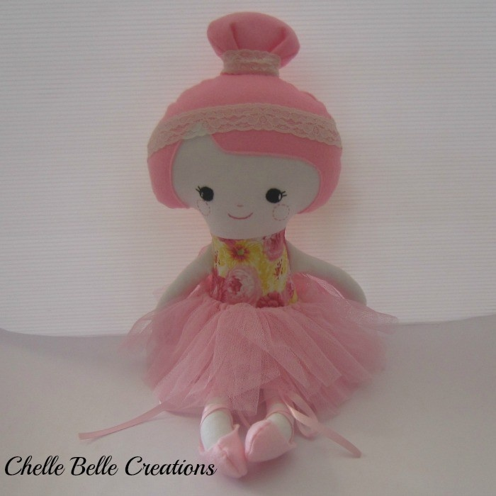 Pink Ballerina    Pattern by Dolls and Daydreams  www.madeit.com.au/chellebelle