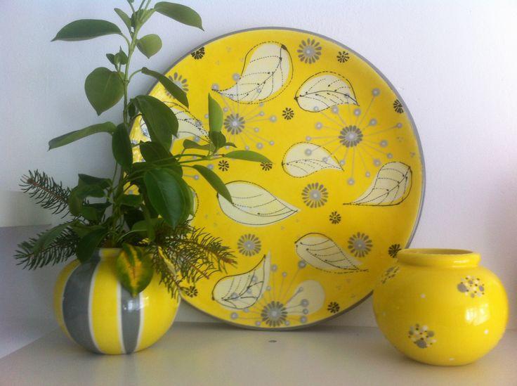Sonnige Dekoration. Handbemalte Keramik