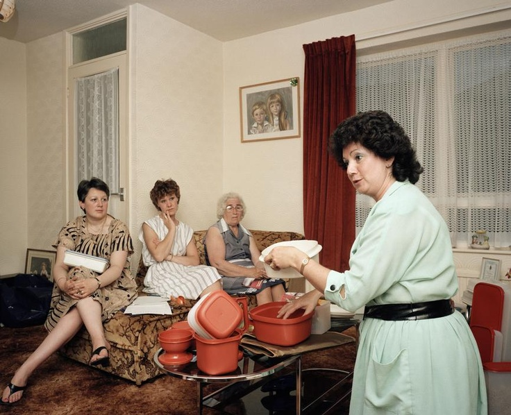 martin parr (that Tupperware is still being used in their kitchen)