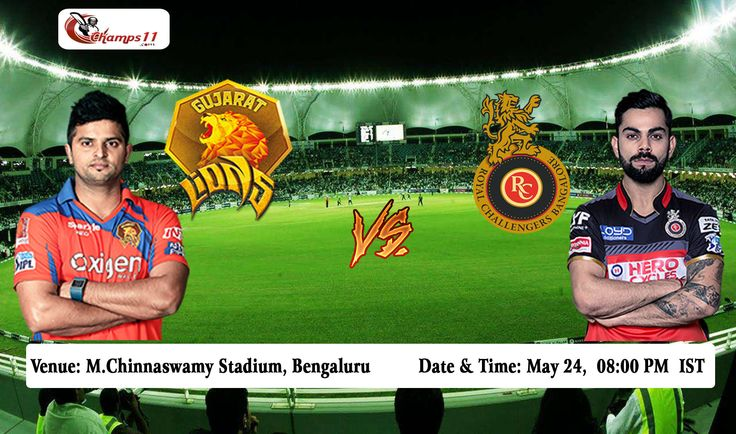 IPL 2016: The Gujarat Lions Vs Royal Challengers Bangalore #GLvRCB #RCBvGL #IPL9 #IPL2016 #VIVOIPL #IPLFantasy #IPLFantasyCricket #IPLFantasyleague #PlayBold #GameMaariChhe