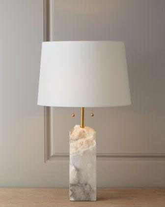 Raw Alabaster lamp