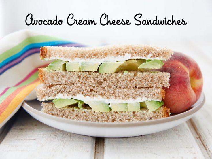 Avocado Cream Cheese Sandwiches are a quick and easy addition to school lunch that is also packed with nutrition.