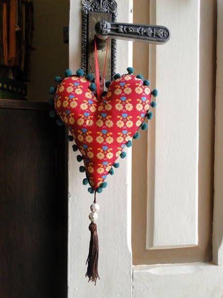 Coração de pendurar | MIMO Patchwork Contemporâneo | Elo7