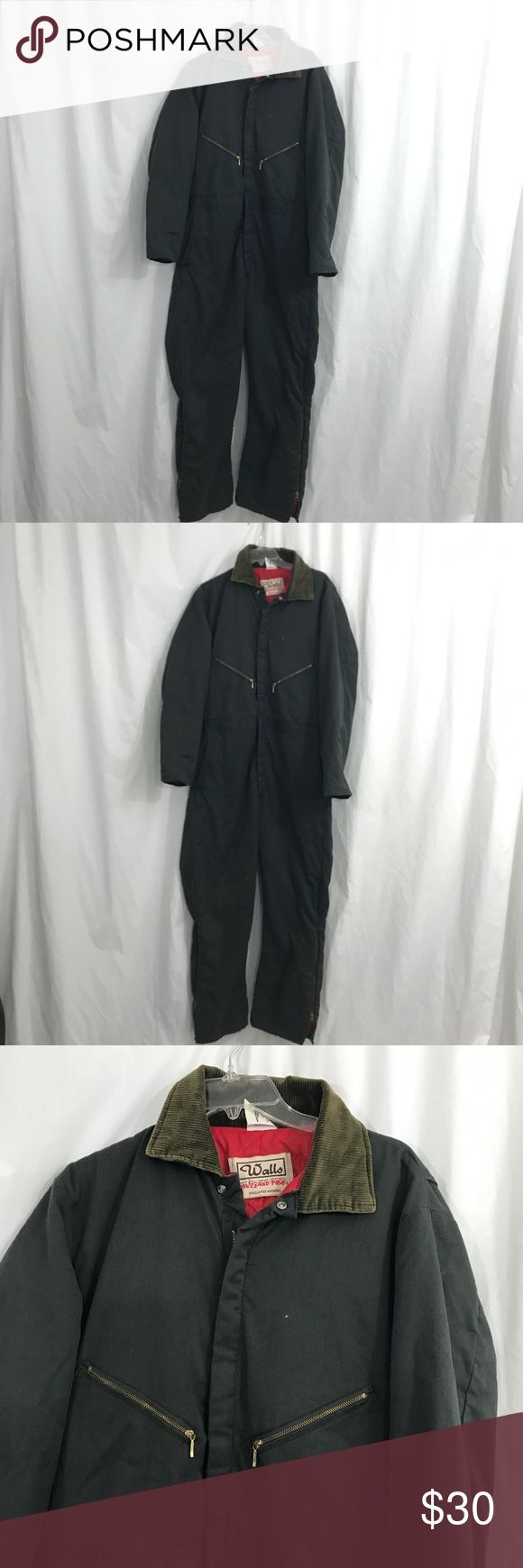 Vintage Walls Blizzard Pruf Coveralls L EUC. Vintage canvas insulated coveralls. Zip up the front. Size Large . Interior quilted. Length of Coveralls 63. Inseam 30 Vintage Jackets & Coats