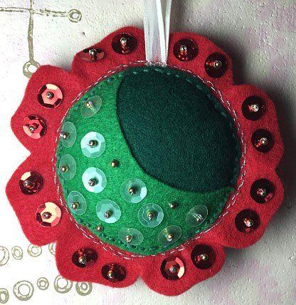 Felt ornament: http://www.chasenfratz.com/wp/christmas-craft-bender-part-2/ #handmadewithjoann, @JoAnn