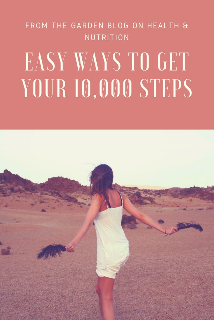 Easy ways to reach your daily 10.000 steps. #healthyliving #stepcounting #10000steps #exercise