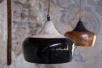Dutchbone :: Lampa wisząca COCO GLOSSY Czarna