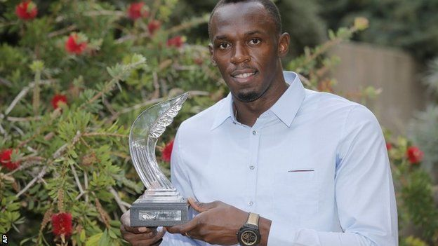 Usain Bolt. 27-year old Jamaican named male World Athlete of the Year for a fifth time.