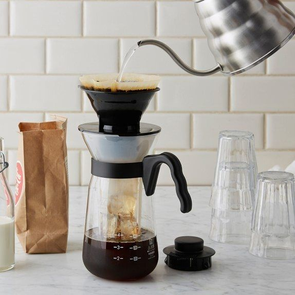 The Hario V60 Ice Coffee Maker is a versatile pour over coffee set that fits in any kitchen or cafe…