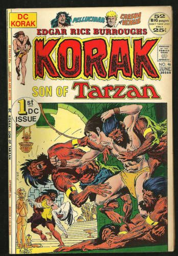 Korak-son-of-Tarzan-46-VF-70-039-s-comic-Joe-Kubert-art