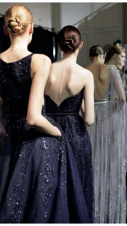 Backstage at Elie Saab Couture