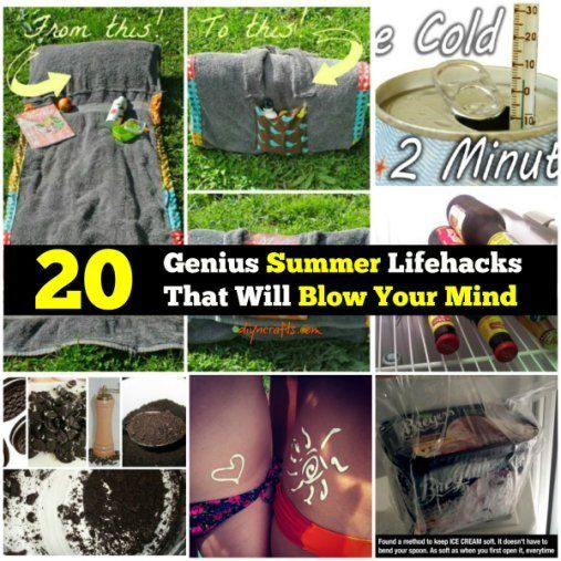 20 Genius Summer Lifehacks That Will Blow Your Mind