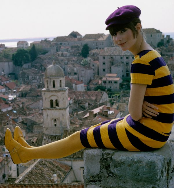 Mary Quant.1960's fashion. Mod (i dont care for the hat or the tights/shoes combination.)