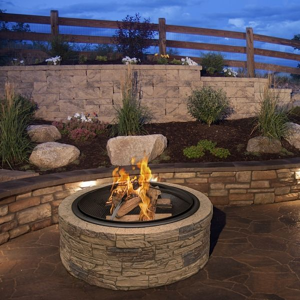 Best 25+ Stone Fire Pits Ideas On Pinterest
