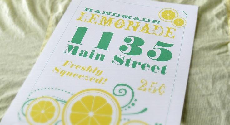 Lemonade Stand Flyer Lemonade Stand Pinterest