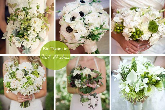 Brautsträuße die zweite Runde: weiß und grün – ein Klassiker | Hochzeitsblog Fräulein K. Sagt Ja