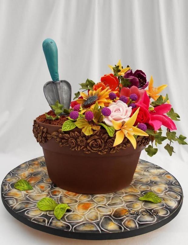 ..črepník s kvetinami.. , narodeninové torty | Tortyodmamy.sk