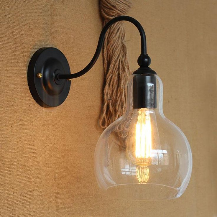 Vintage Iron Clear Glass Shade Wall Lamp Edison Bulb Fixtures From Dpgkevinfan, $110.27 | Dhgate.Com