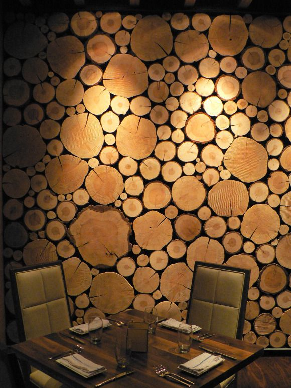log wall cool for a man cave - Wood Designs For Walls
