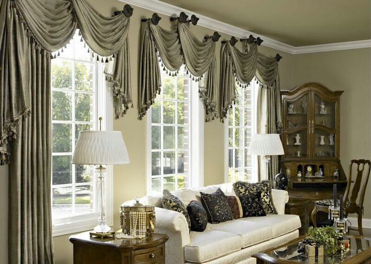 17 Best images about SWAGS on Pinterest | Bay window treatments ...