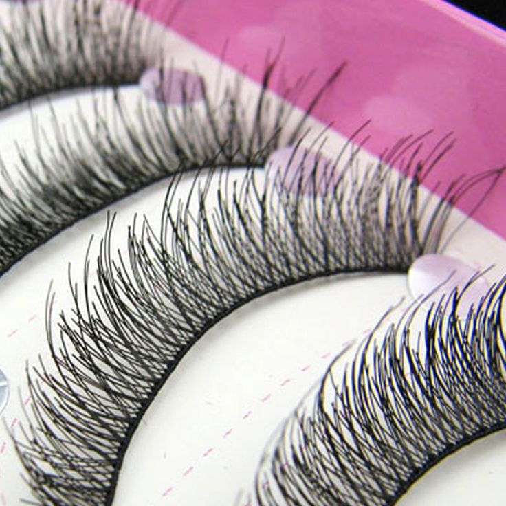 10 Par/lote Hermosas Pestañas Falsas Naturales Suministros de Maquillaje de Belleza Pestañas Postizas Tira Set No Incluye Pegamento De Pestañas
