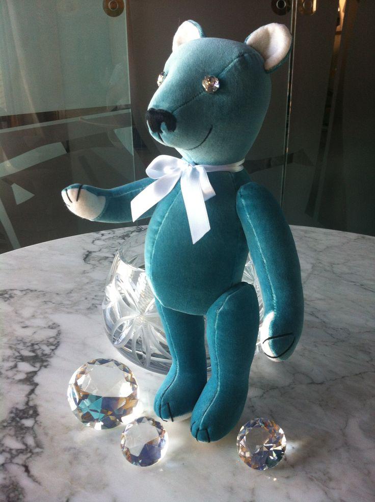 """Tiffany"" Baby Teddy Bear, by GSBears. Charming Barcelona Teddy Bears."