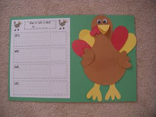 How to catch a turkey...writing prompt & craft.