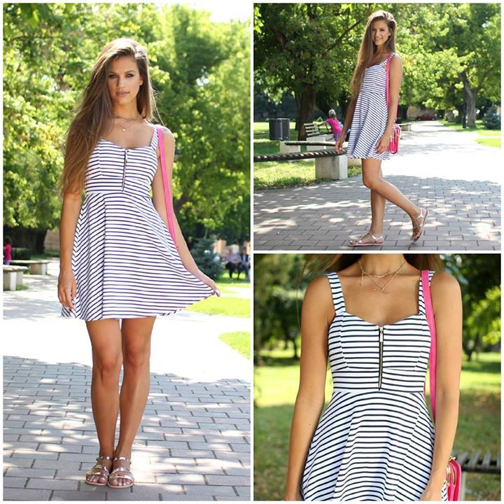 Striped #dress for a casual outing...:)   #ootd #fashion #style