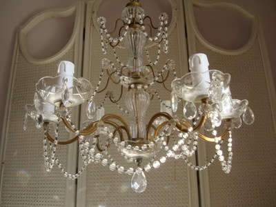 Meriel Antique Sienna Six Light Chandelier