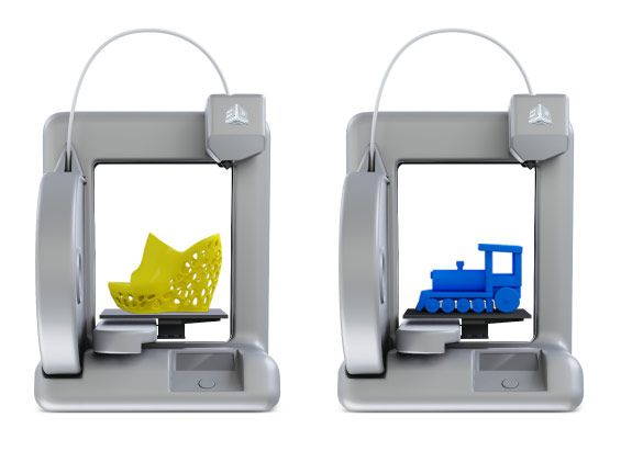 "Wifi-enabled personal 3D printer available for preorder. Prints up to 5.5"" x 5.5"" x 5.5"". $1299.00"