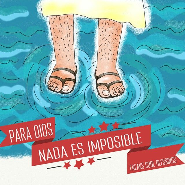 Everything is possible for God. Come and walk on the wather #allispossible #faith #illustration #ilustracion #God #Jesus #fe #Dios #wather www.facebook.com/freakscb
