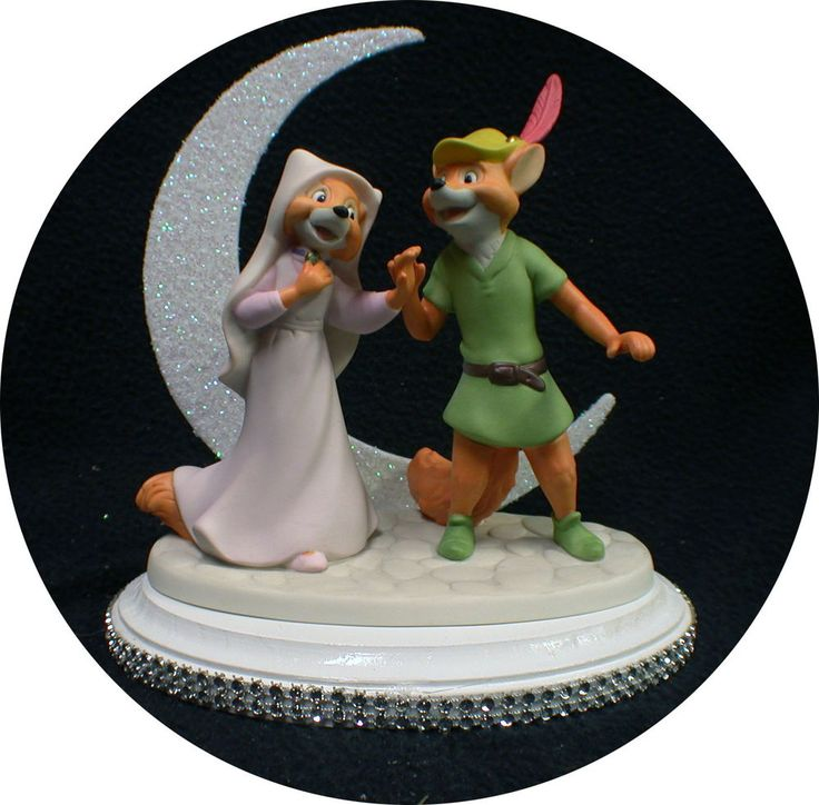Disney Robin Hood & Maid Marian Wedding Cake Topper. Precious fox love Figurine #yourcaketopper