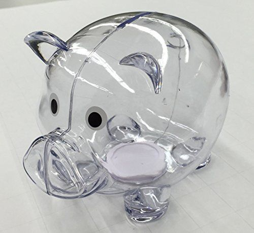 NEW Clear Plastic PIGGY Bank Coin Money Savings Toy Cash Safe Box * See this great product.
