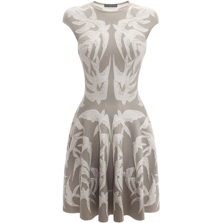 bfc0fe4a2f1 Lace Spine Bird Jacquard Knit Full Circle Dress In my dream life