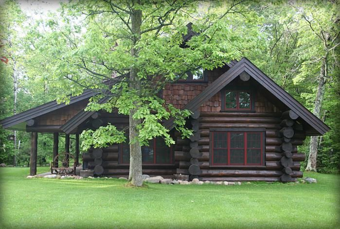 Log cabin i luv log cabins pinterest land 39 s end for How to stain log cabin