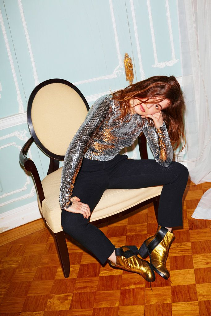 The up-and-coming French pop star Héloïse Letissier, who performs as Christine and the Queens. Dior top, $3,500, (800)929-3467. Michael Kors pants, $1,095, (866)709-5677. MM6 Maison Margiela boots, $725, (646)664-1655.