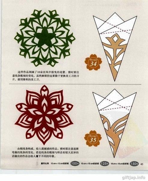 Verschiedene Schneeflocken basteln - Schablonen und Mustern-dekoking-com-3