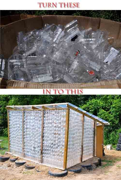 Build A Greenhouse From Plastic Bottles