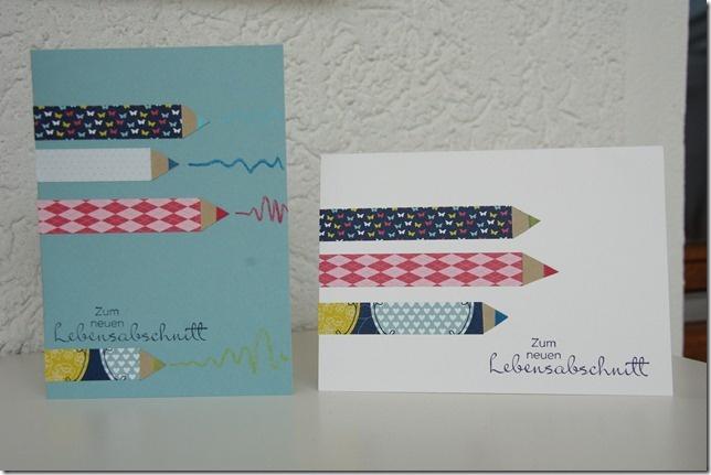 Super Karte zum Schulanfang! Stifte aus Washitape!